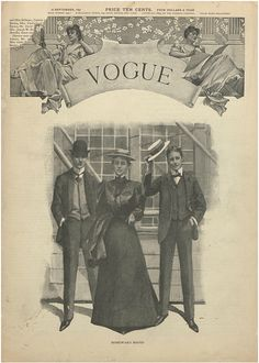 """Kate Chopin's short story, """"A Pair of Silk Stockings"""" first appeared in the September 16, 1897 edition of Vogue (this is the cover from that week!)."""