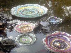 Sculptural mosaics on water c) Laurel True