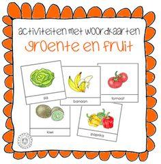 Kleuterjuf in een kleuterklas: Groente en fruit