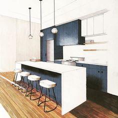 Home Decorators Luxury Vinyl Plank Interior Architecture Drawing, Interior Design Renderings, Architecture Concept Drawings, Drawing Interior, Interior Rendering, Interior Sketch, Architecture Design, Classical Architecture, Design Scandinavian