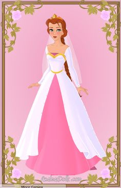 Fiona in her wedding dress just before she marries Lord Farquaad. Made using Azalea Dolls amazing 'Heroine Creater' game Princess Fiona Wedding Dress Tiana Disney, Aurora Disney, Disney Princess Art, Princess Cartoon, Princess Rapunzel, Princesa Disney, Disney Dolls, Princess Beatrice, Wedding Dresses With Straps
