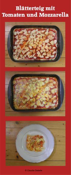 Blätterteig mit Tomaten und Mozzarella