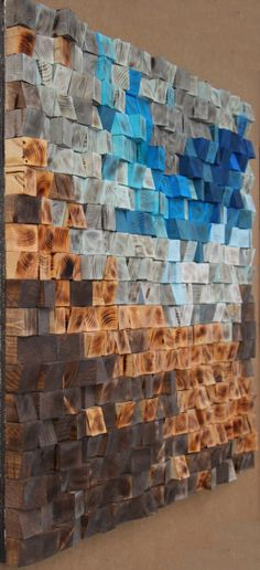 30x30 Woodburning Reclaimed Wood wall Art, Wood mosaic, Geometric art, Wood wall art , Rustic Wood wall Art, sculpture Abstract wood art by GBandWood on Etsy