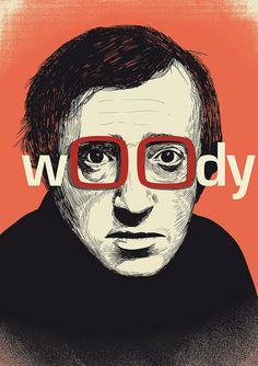 Woody Allen #woody allen, #film #illustration #raid71