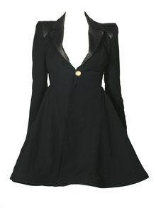 Alice & Olivia wright full skirt coat with leather $697