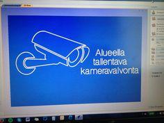 Alueella tallentava kameravalvonta kyltti versio 2. #roland #kaiverrus #kyltti #kameravalvonta #vectric #vcarve