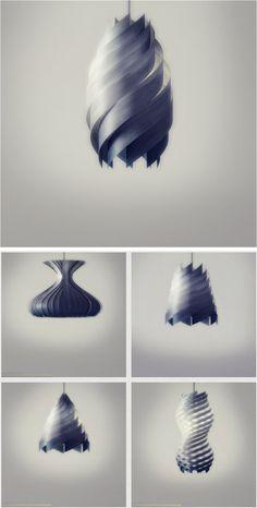 Wood Veneer Lamps / ENRICO ZANOLLA
