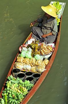 Fruit-seller, Bangkok Floating Market, Thailand