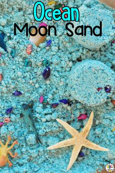 Are you looking for a sensory play idea to add to your ocean unit? Your kids are sure to love this Ocean Moon Sand Sensory Bin! It is an engaging and entertaining activity for your kids to play with when they are learning all about the oceans. This sensory play recipe is so easy to make too. You only need 3 ingredients for hours of sensory play fun! Click on the picture to learn more about this sensory play activity! #sensoryplay #sensoryactivity #sensorybin #sensoryplayidea #sensoryrecipe