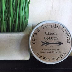 8oz Clean Cotton Soy Candle - Nostalgic aroma of fresh linens dried on a fresh breezy day.