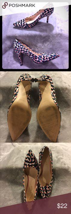 "Nine West heels size 6 Patent leather multi colored 3"" heel Nine West Shoes Heels"