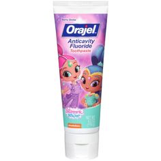 Orajel, Shimmer & Shine Anticavity Fluoride Toothpaste, Berry Divine, oz g) - iHerb Best Toothpaste, Kids Toothpaste, Dental, Disney Coffee Mugs, How To Prevent Cavities, Kids Makeup, Vitamins For Women, Shimmer N Shine, Personal Hygiene