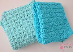 "Textured Washcloth Easy Crochet Pattern/ I luv the ""waffle"" stitch one/ FREE CROCHET pattern/ easy"
