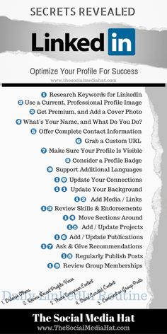 LinkedIn: Optimize your Profile for Success