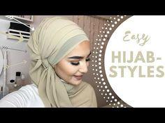 Easy Hijab Styles I Chiffon Hijab - hijab style Pashmina Hijab Tutorial, Turban Tutorial, Hijab Style Tutorial, Easy Hijab Style, Simple Hijab, Hijab Chic, Turban Hijab, Mode Turban, Hijabs
