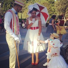 Everyone's hearts melted when a bounding Bert and Mary Poppins met MINI BERT AND MARY POPPINS. | Dapper Day At DisneyLand Is The Most Fashionable Day Of The Year