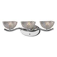 Polished Chrome Contour Collection 3-Light bath - Overstock™ Shopping - Top Rated ELK LIGHTING Sconces & Vanities