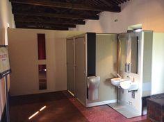 Portable bathroom model: DOT  Fashion Set-Up for Shell's medieval event. Location: Odescalchi Castle near Bracciano Lake Italy  #fashiontoilet #odescalchicastle #interiordesign #shell #italydesign