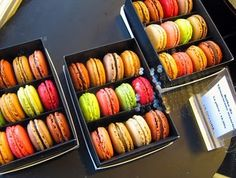 And of course they have macarons in 20 flavors/parfums!