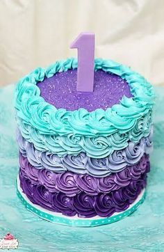 Image result for purple cake for 8 year old girls