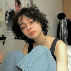 Shot Hair Styles, Curly Hair Styles, Cut My Hair, Hair Cuts, Hair Inspo, Hair Inspiration, Character Inspiration, Short Grunge Hair, Androgynous Hair