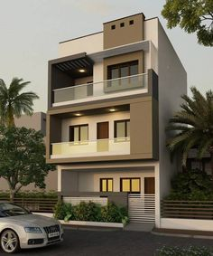 Top Modern House Design Ideas For 2021 - Engineering Discoveries House Gate Design, House Front Design, Small House Design, Modern House Design, Bungalow Haus Design, Modern Bungalow House, Modern House Facades, House Paint Exterior, Building Exterior
