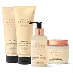 Buy Grow Gorgeous Balance Collection (Worth We've got top products at great prices including fashion, homeware and lifestyle products. Free delivery available Ph Balanced Shampoo, Split End Treatment, Acai Fruit, Overnight Mask, Benzoic Acid, Hair Rinse, Dry Scalp, Green Tea Extract, Damp Hair Styles