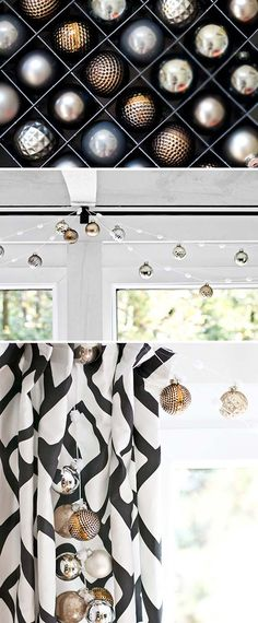 Gold, Silver and Copper Glass Ornaments from Home Decorators Collection | Sarah M. Dorsey Designs