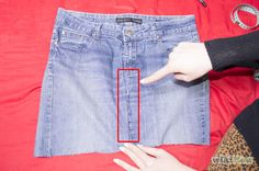 Make a Denim Skirt From Recycled Jeans with a straight seam