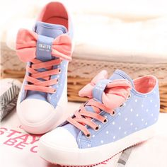 Pink bow dot sneakers - Thumbnail 1