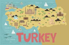Antalya, Istanbul Map, Argentina Map, Turkey History, Turkey Country, Holidays Around The World, Country Maps, Map Vector, First Contact