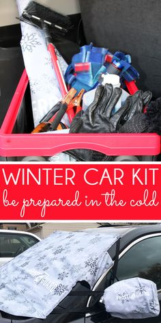 Create a winter car kit to keep your family safe & warm and safe on the roads this season. Prevent ice and snow buildup, and get a full list of recommended items for your organized winter emergency car kit! Kit Cars, Vw Camper, Winter Car Kit, Winter Car Emergency Kit, Emergency Kit For Car, Volkswagen, Car Accessories For Guys, Vehicle Accessories, Hello Kitty