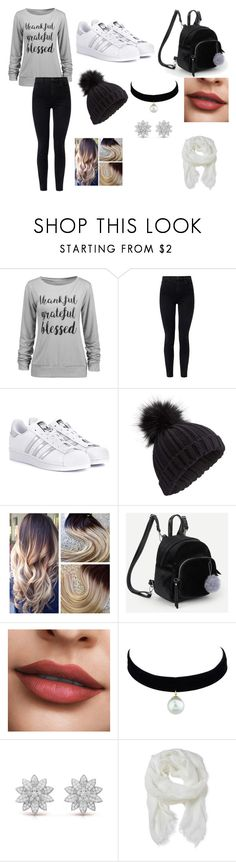 """رمادي اسود ابيض"" by magda-afifi on Polyvore featuring J Brand, adidas Originals, Miss Selfridge and Altea"