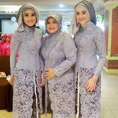 Wedding Dresses Plus Size Lace Outfit Ideas Model Kebaya Brokat Modern, Model Kebaya Muslim, Kebaya Modern Hijab, Kebaya Hijab, Kebaya Lace, Batik Kebaya, Kebaya Dress, Batik Dress, Pastel Colour Bridesmaid Dresses