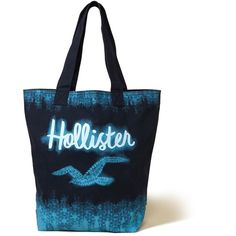 Hollister Graphic Canvas Tote Bag ($25) ❤ liked on Polyvore featuring bags, handbags, tote bags, navy, navy blue tote bag, white tote, white handbags, white canvas tote and canvas tote
