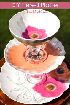DIY Tiered Platters & How to make your own Tiered Serving Platter for ***CHEAP ...