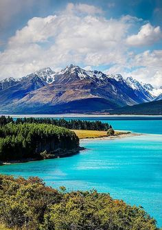 The Blue of Lake Pukaki, New Zealand It is just as beautiful as this!
