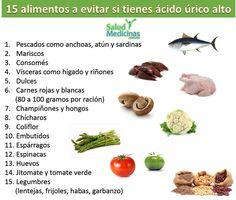 que no comer para el acido urico alto