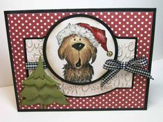 FS199 Fa la lala Christmas Dog by jaydekay - Cards and Paper Crafts at Splitcoaststampers