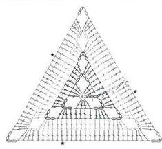 esquema de ganchillo motivos triangulares simples