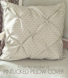 I asked many of you which was your favorite pillow in my master bedroom makeover and most of you chose this one. I made a pintucked duvet cover for my daughters bedroom last year and thought I would use the same concept for a pillow cover to add texture to my room. Here are …
