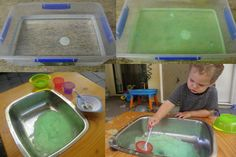 Messy Play; Gelli Baff!  Get the instructions here: http://www.facebook.com/photo.php?fbid=227102217364683=a.138784272863145.34958.118018038273102=1