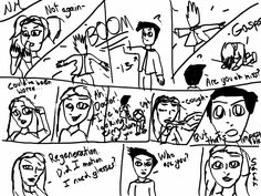 A comic for when Sarah meets 13 by Noelle Marcy. Sorry for not coloring it in. Based off of BBC's Doctor Who