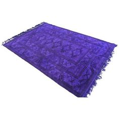 """Purple Overdyed Turkish Hand Knotted Rug - 5'8"""" X 8'3"""" ($590) ❤ liked on Polyvore featuring home, rugs, traditional handmade rugs, hand knotted rugs, hand knotted wool area rugs, handmade rugs, purple area rugs and wool rugs"""