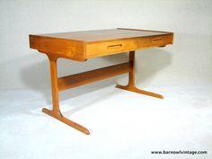 Mid Century Danish Modern Teak Desk