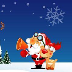 Santa Claus on Computer in Christmas Holidays Wallpaper HD