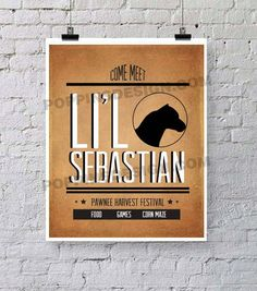 Parks and Recreation LIL SEBASTIAN Digital Download Print #parksandrec
