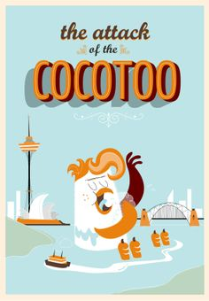 """Hernán Castelli: """"The Attack Of The Cocotoo"""". #Illustration #Character #Design #Argentina"""