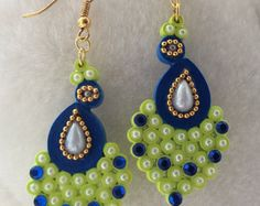 Handmade Paper Quilled Jhumkas/Quilled by QuillingCollections