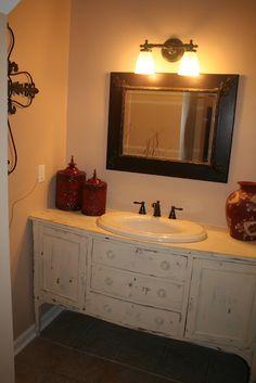 dresser with sink
